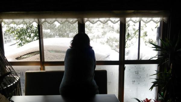 ママ雪を見る